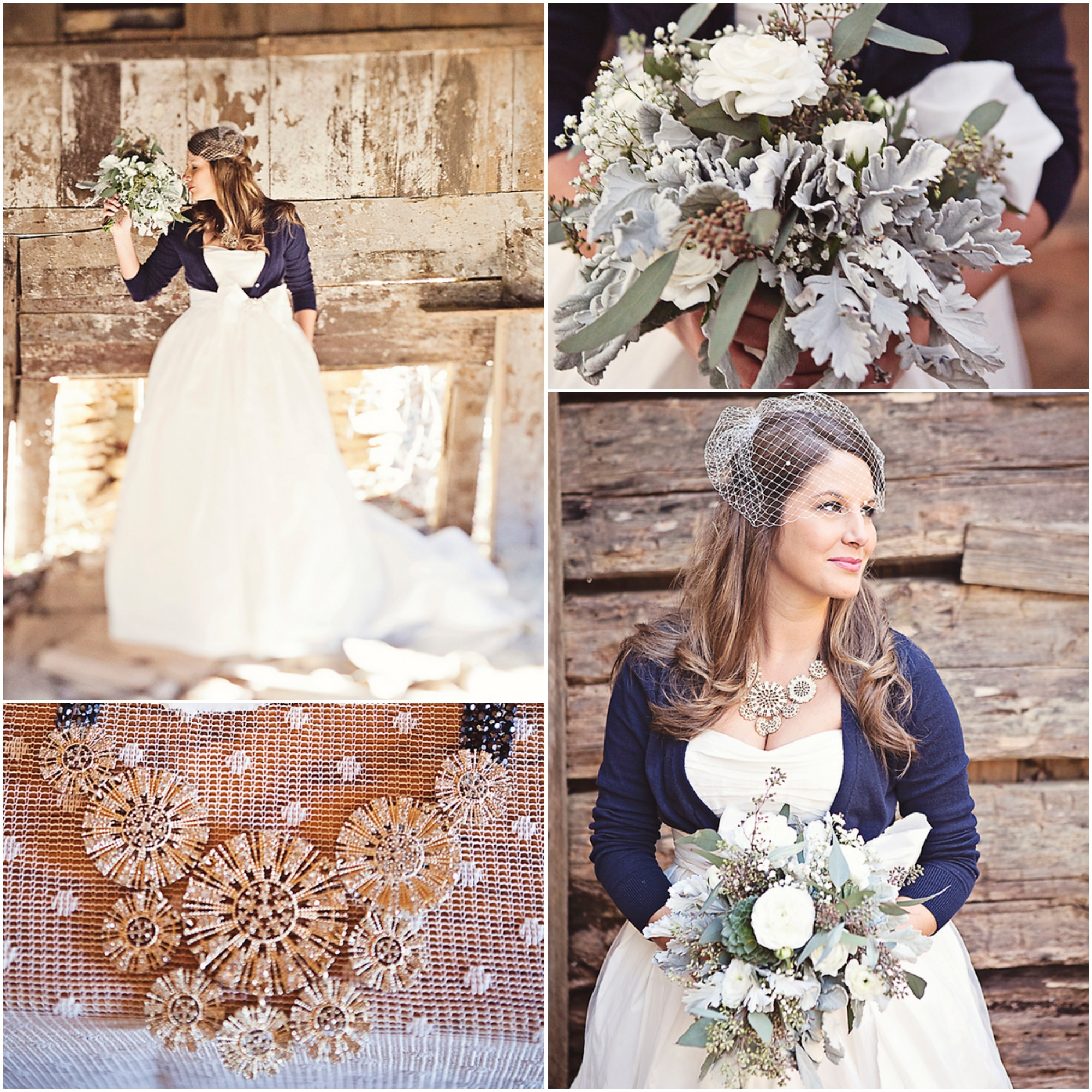 Rustic Wedding Dress Ideas: Country Wedding Dress, Necklace And Bouquet
