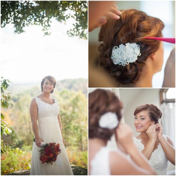Country Wedding Hairstyles: Rustic Chapel Wedding
