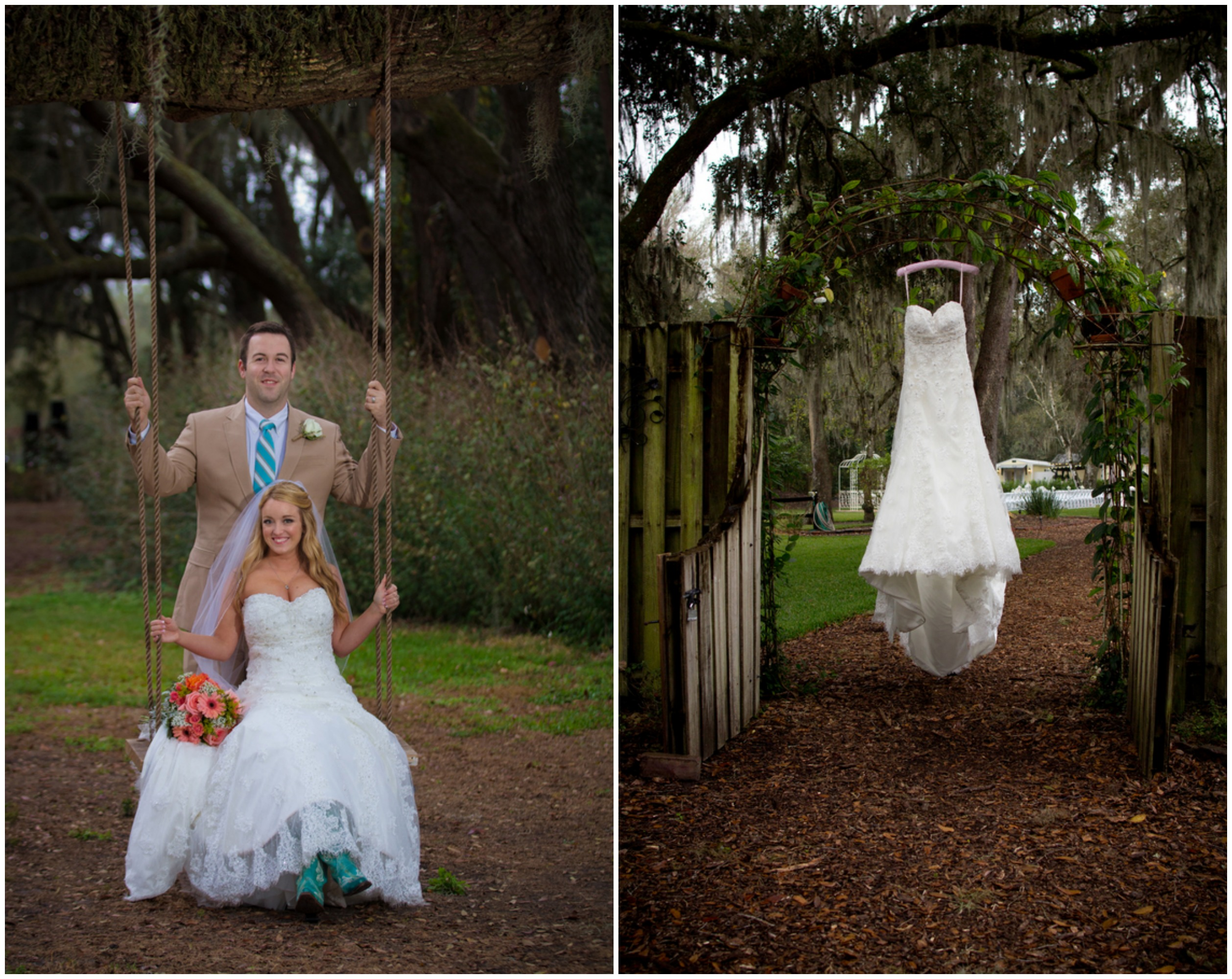 Chic Rustic Country Wedding: Florida Barn Wedding At Cross Creek Ranch