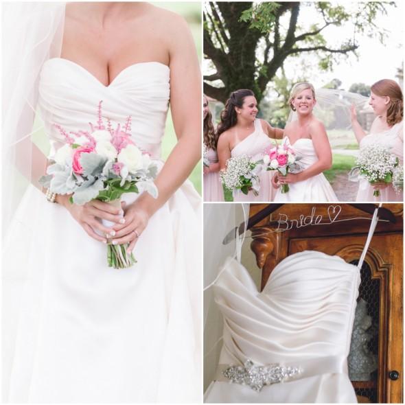 Country wedding bride and bridesmaids