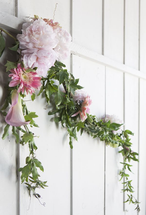 How To Make A Floral Garland Rustic Wedding Chic