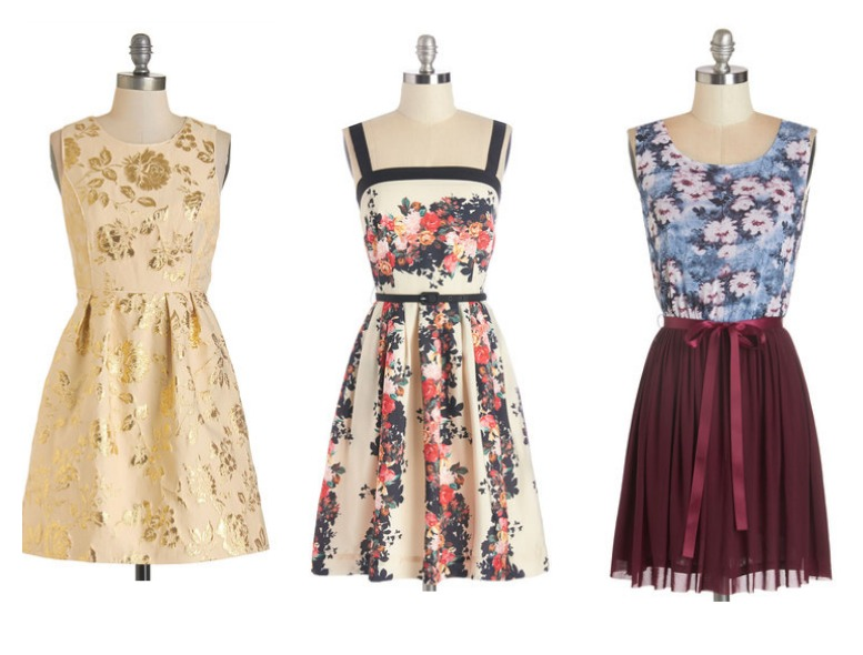 Floral Style Bridesmaid Dresses