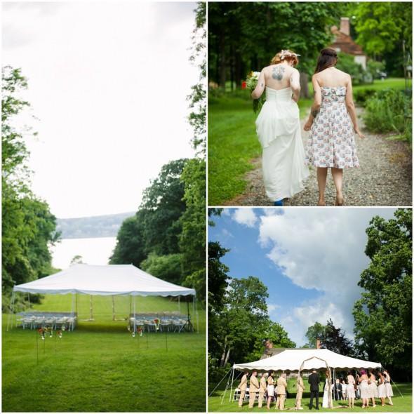 Hudson River Valley Outdoor Wedding Ceremony
