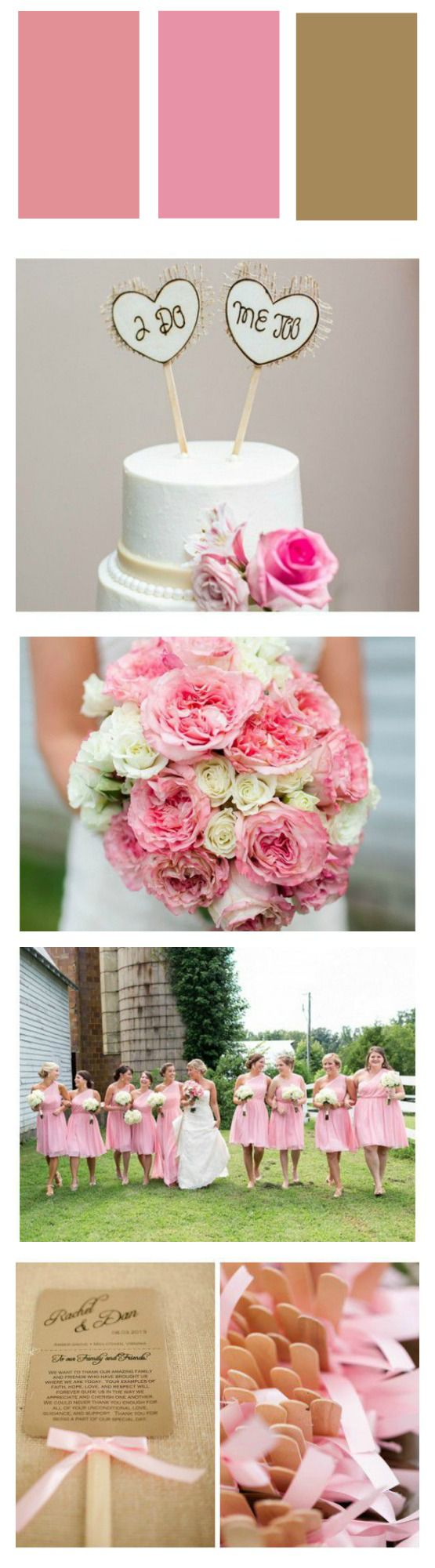 Pink And White Wedding - Rustic Wedding Chic