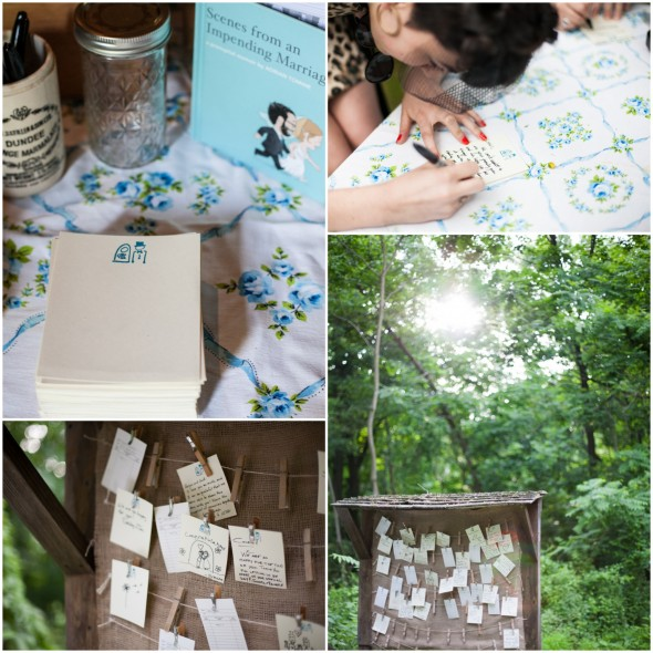 Rustic Wedding Leave a Note and Good Wishes