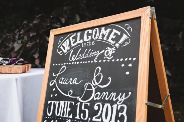 Garden Wedding Chalkboard Sign