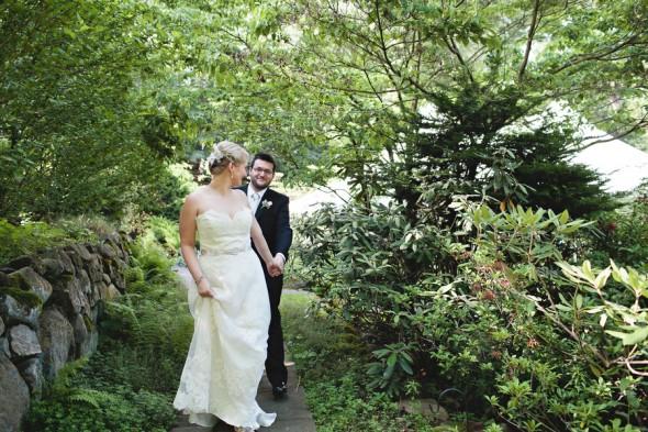 Garden Wedding Bride + Groom