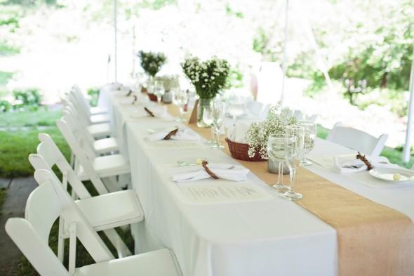 Garden Wedding Reception Tables