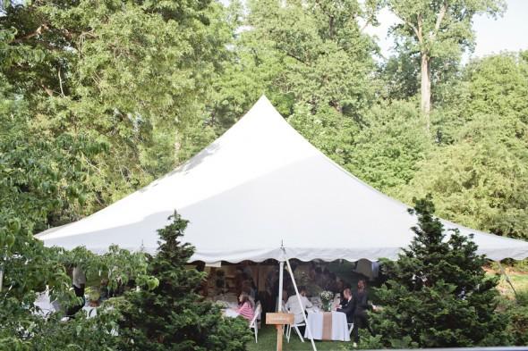 Garden Wedding Reception Tent