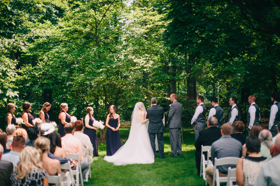 Michigan Summer Garden Wedding