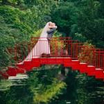 Forest Wedding Bride + Groom