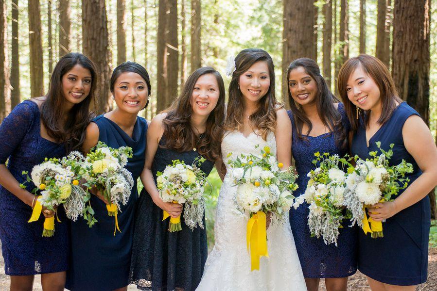blue gold botanical garden wedding rustic wedding chic