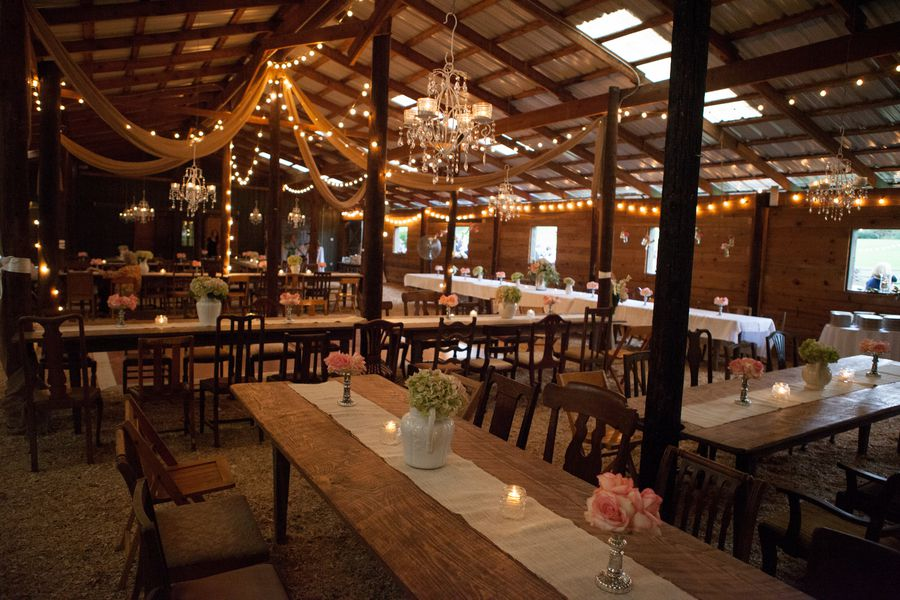 Southern Wedding Barn Flowers