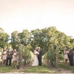 Vineyard Outdoor Wedding Bridal Party