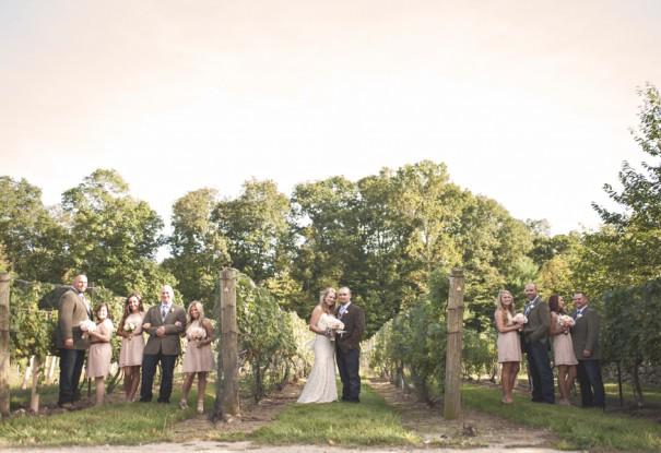 New England Vineyard Wedding: Nicole + Joe