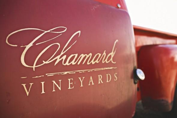 Chamard Vineyards Red Truck