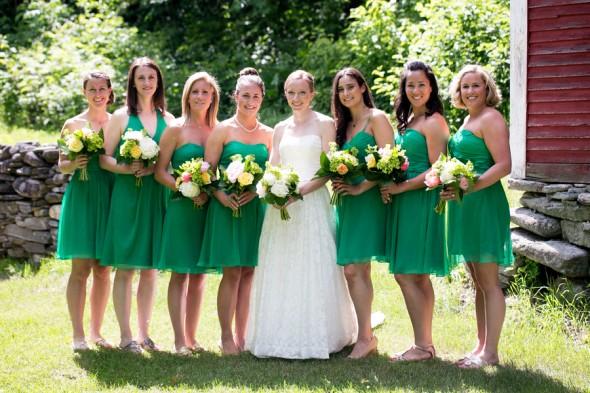 Dark Green Bridesmaid Dresses