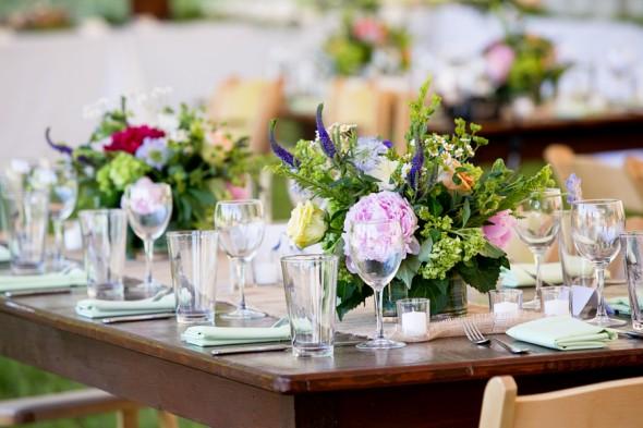 Elegant Farm Wedding Tables