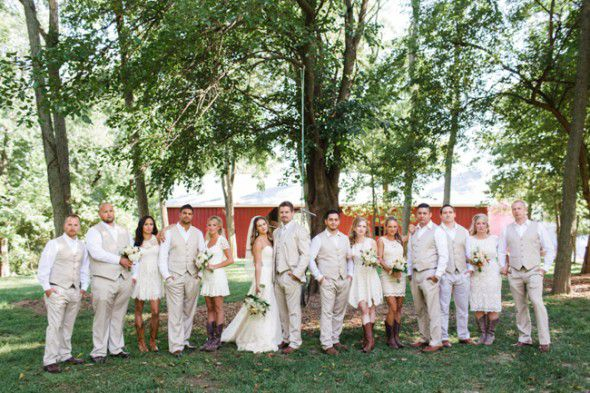Elegant Country Wedding Bridal Party