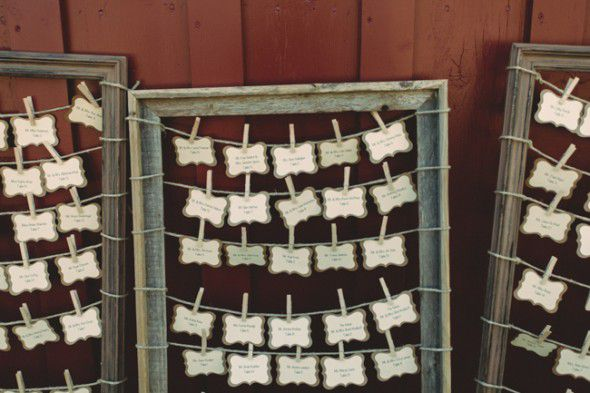 Country Wedding Place Card Display