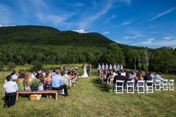 Country Wedding Ceremony Setting