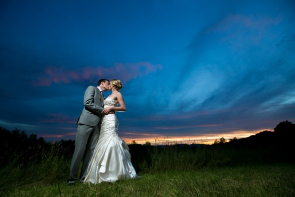 Country Barn Wedding Bride + Groom