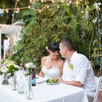 Outdoor Wedding Reception Sweetheart Table
