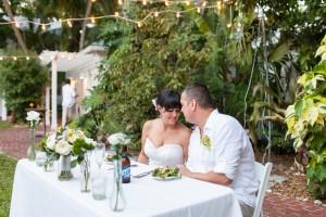 Outdoor Wedding Reception Sweetheart Table