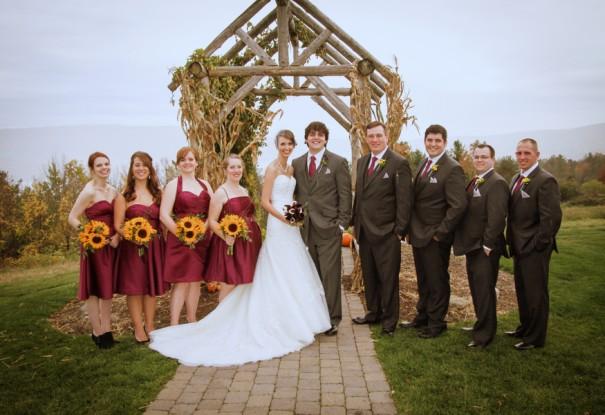 Sunflower Fall Wedding: Cheryl + Peter