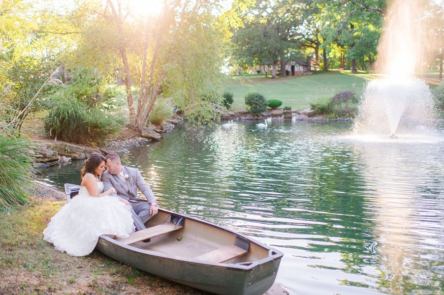 Country Wedding Bride + Groom at the Lake