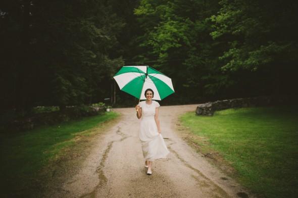 Country Bride and Umbrella