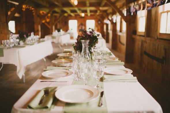 Country Barn Wedding Reception Tables