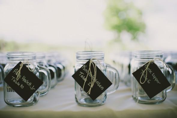 Country Wedding Mason Jar Favors