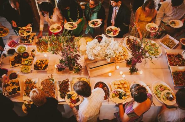 Country Wedding Reception Buffet