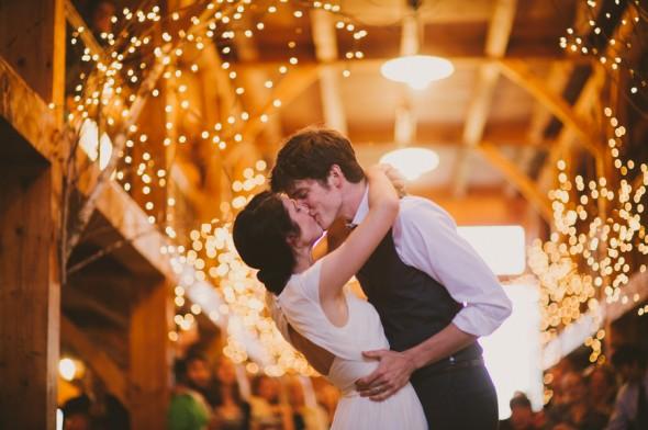 Barn Wedding Reception Bride + Groom