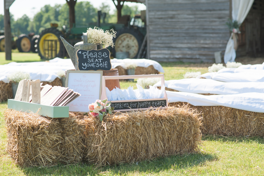 Barn Wedding Outdoor Ceremony