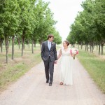 Vineyard Wedding Bride + Groom