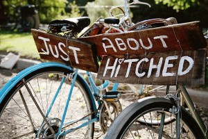 Wedding Signs On Bike
