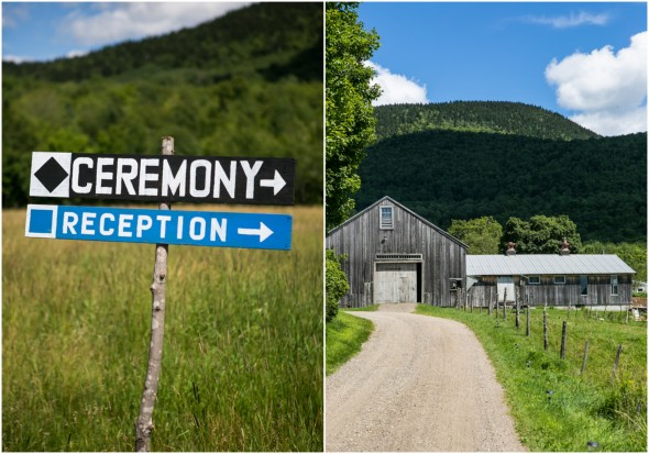 Country Ceremony and Reception Signs