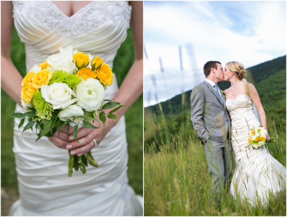 Country Wedding Yellow and White Bouquet