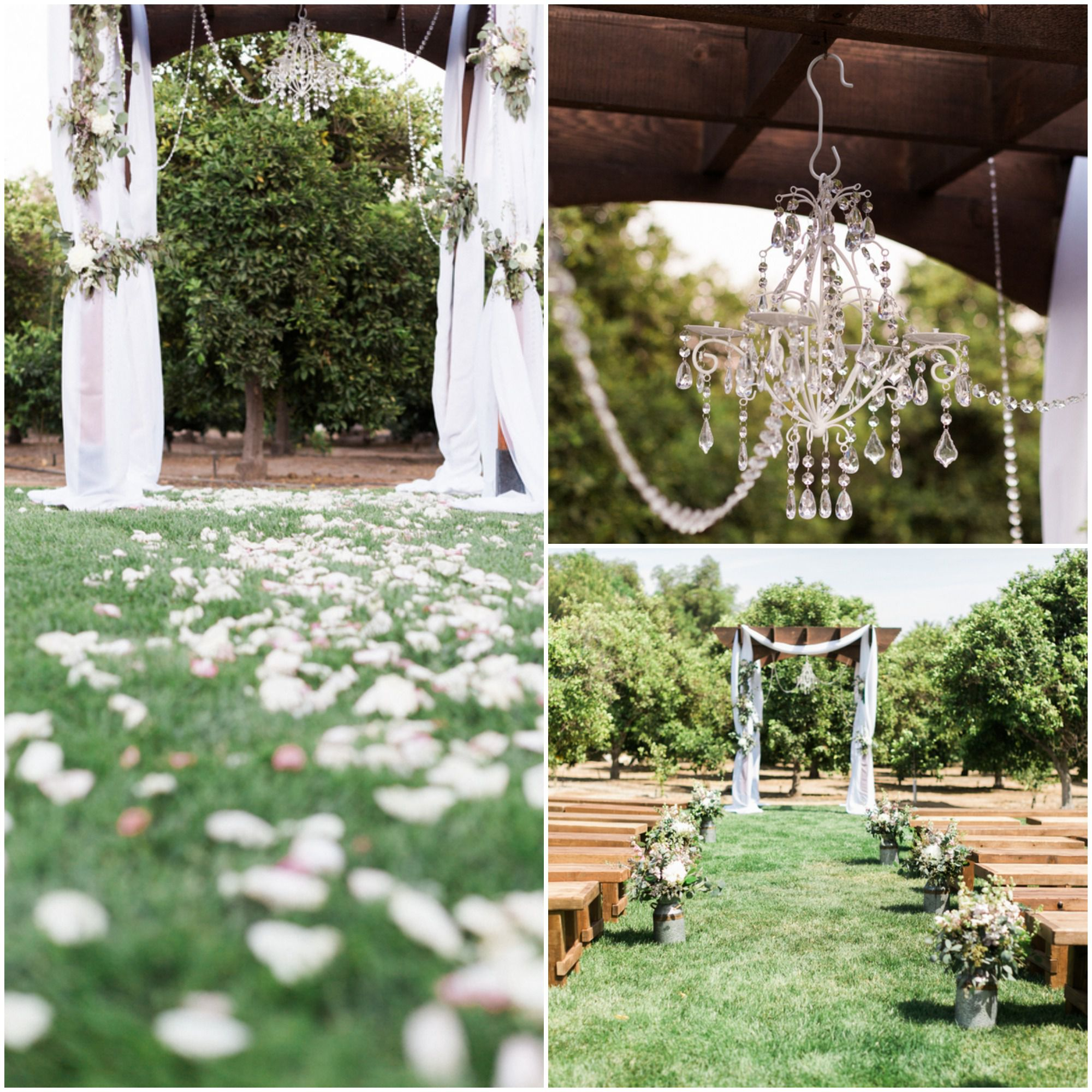 Outdoor Wedding Ceremony: Country Shabby Chic Wedding
