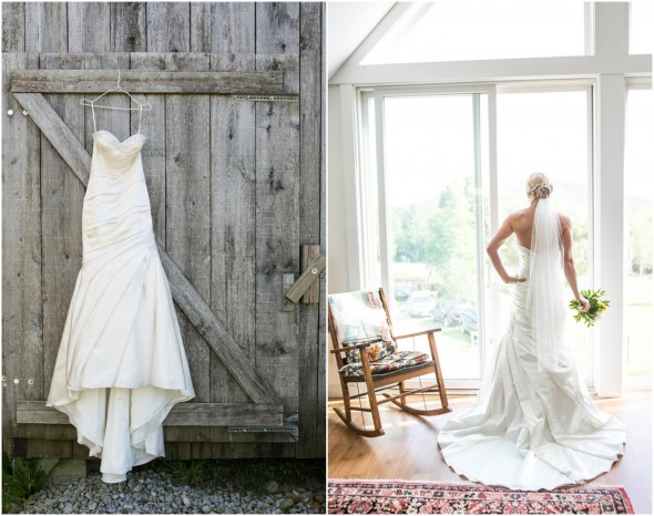Country Wedding Dress and Veil