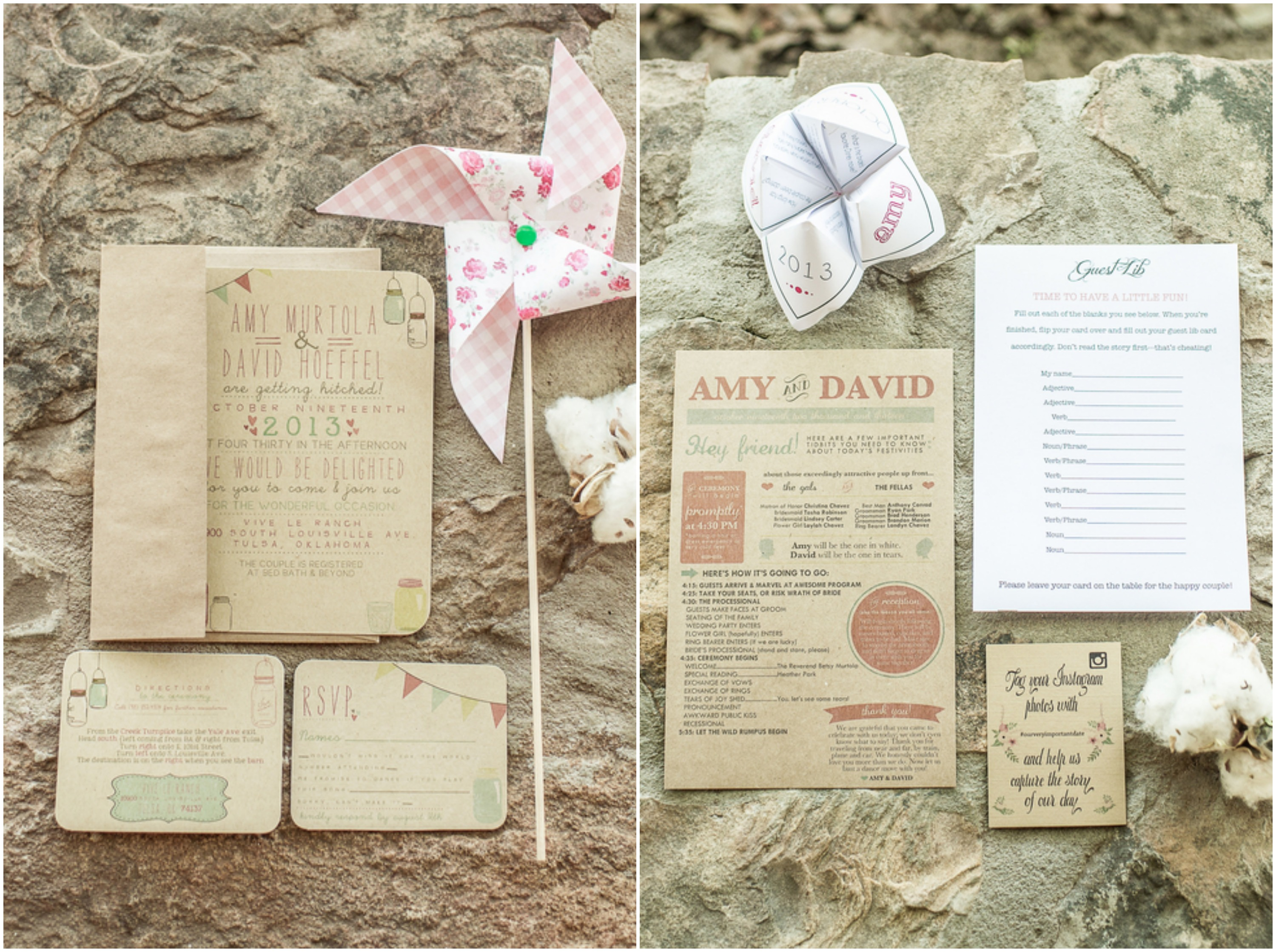 Country Wedding Invitations: Southern Rustic Ranch Wedding