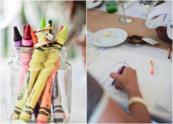 Garden Wedding Coloring Placemats
