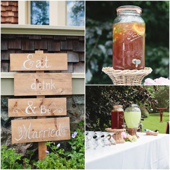 Garden Wedding Drinks and Sign