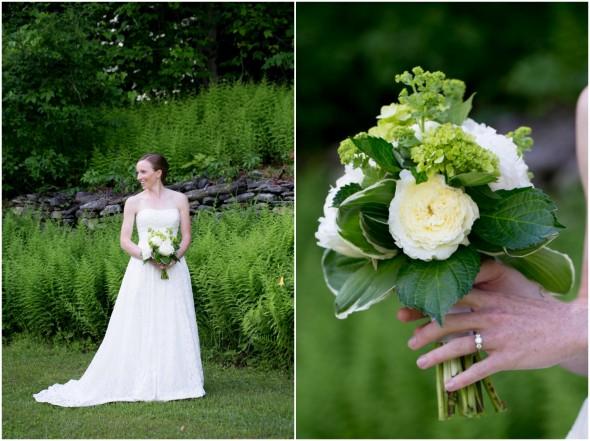Green & White Wedding Bouquet