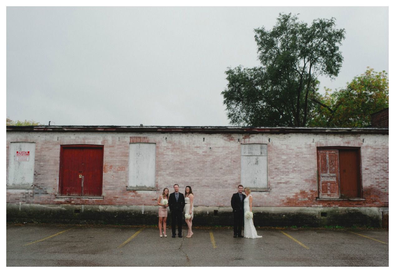 loading dock wedding