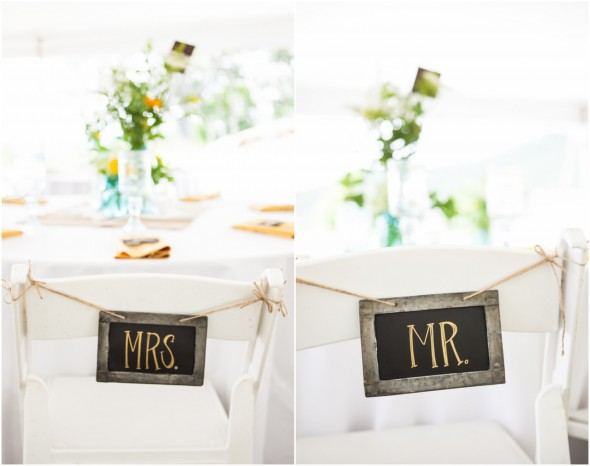 Mr. and Mrs. Chalkboard Chair Signs