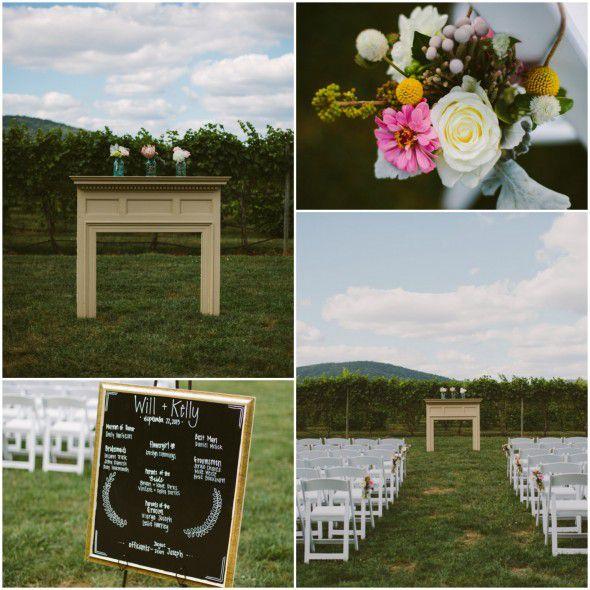 A Vintage Style Vineyard Wedding