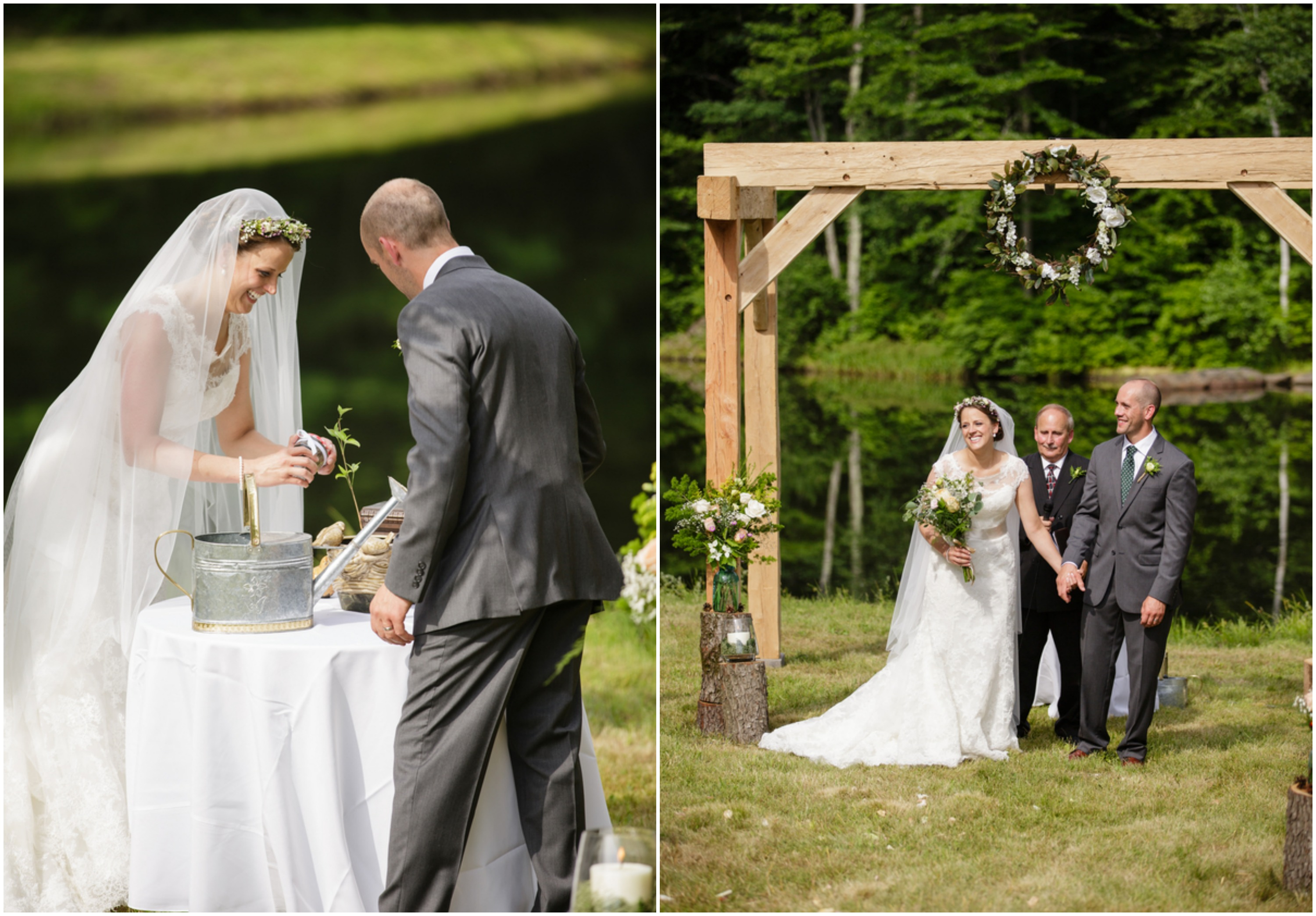 Outdoor Wedding Ceremony: A Connecticut Country Wedding
